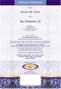cara print label undangan